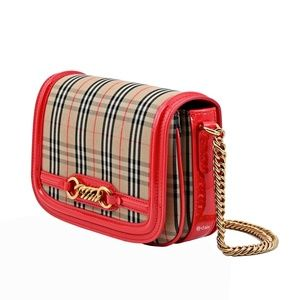Burberry Vintage Check Link Flap Shoulder Bag